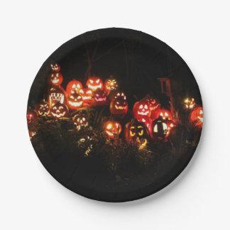 Halloween Jack O Lantern Gathering Paper Plate