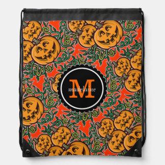 Halloween Jack O Lantern Goodie Bag Drawstring Bags