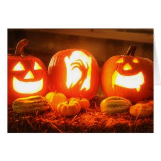 Halloween Jack O Lantern Greeting Card