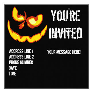 Halloween Jack O Lantern Party Invitation