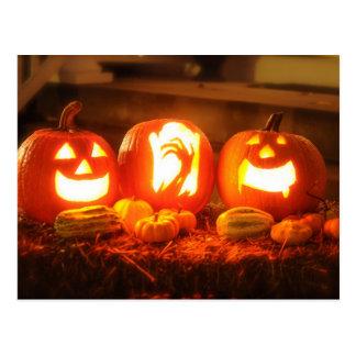 Halloween Jack O Lantern Postcard