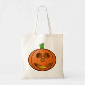 Halloween Jack-o-Lantern Pumpkin Canvas Bag