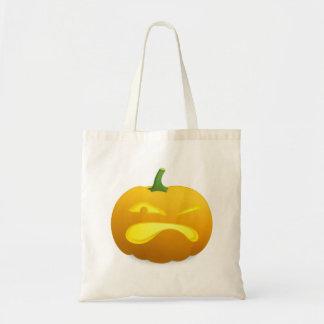 Halloween Jack-o-Lantern Pumpkin Tote Bags