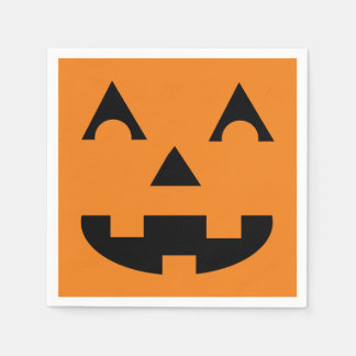 Halloween Jack O Lantern Pumpkin Face Disposable Napkins