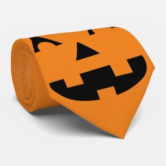Halloween Jack O Lantern Pumpkin Face Tie