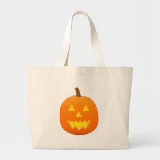 Halloween: Jack-O-Lantern: Pumpkin: Jumbo Tote Bag