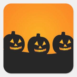 Halloween Jack-O-Lantern Pumpkin Patch Parade Square Sticker