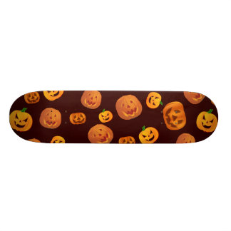 Halloween Jack-O-Lantern Pumpkin Pattern 21.6 Cm Old School Skateboard Deck
