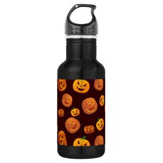 Halloween Jack-O-Lantern Pumpkin Pattern 532 Ml Water Bottle
