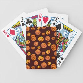 Halloween Jack-O-Lantern Pumpkin Pattern Bicycle Playing Cards