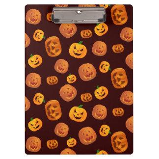 Halloween Jack-O-Lantern Pumpkin Pattern Clipboard