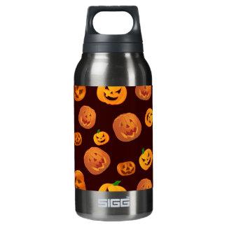 Halloween Jack-O-Lantern Pumpkin Pattern Insulated Water Bottle