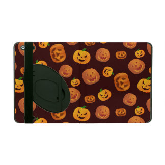 Halloween Jack-O-Lantern Pumpkin Pattern iPad Folio Case
