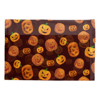 Halloween Jack-O-Lantern Pumpkin Pattern Pillowcase