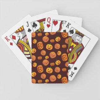 Halloween Jack-O-Lantern Pumpkin Pattern Playing Cards