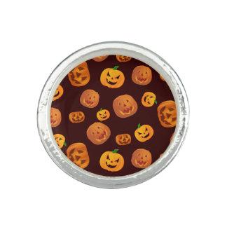 Halloween Jack-O-Lantern Pumpkin Pattern Ring