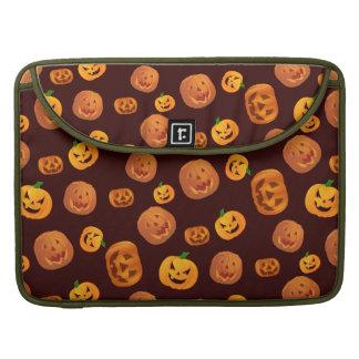 Halloween Jack-O-Lantern Pumpkin Pattern Sleeve For MacBooks