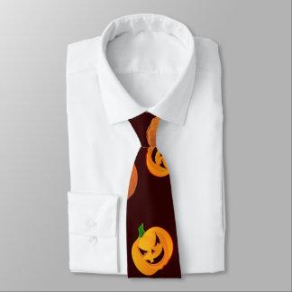 Halloween Jack-O-Lantern Pumpkin Pattern Tie