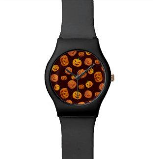 Halloween Jack-O-Lantern Pumpkin Pattern Watch