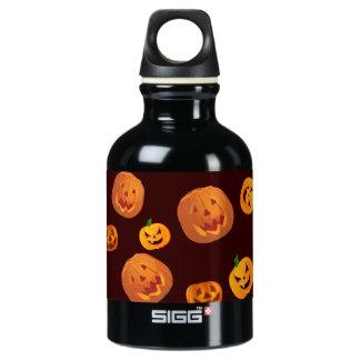 Halloween Jack-O-Lantern Pumpkin Pattern Water Bottle