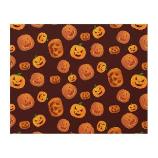 Halloween Jack-O-Lantern Pumpkin Pattern Wood Wall Decor