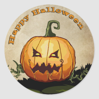 Halloween Jack O Lantern Pumpkin Sticker