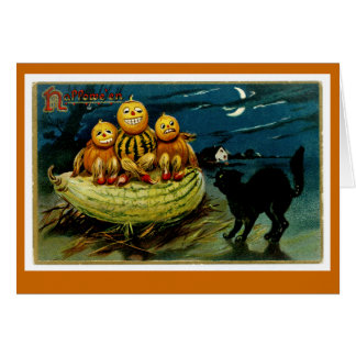 Halloween Jack-o-Lantern Pumpkin Trio Card