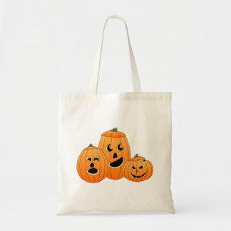 Halloween Jack-o-Lantern Pumpkins Tote Bags