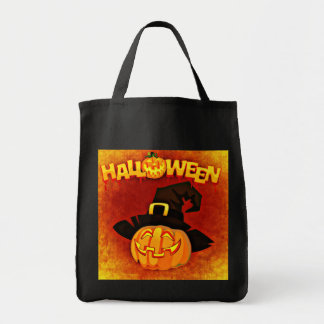 Halloween Jack O Lantern Tote Bag