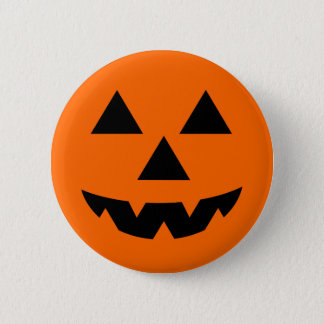 Halloween Jack-O-Lantern Trick or Treat 6 Cm Round Badge