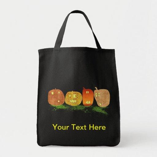 Halloween Jack O Lantern Trick or Treat Bag