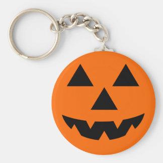 Halloween Jack-O-Lantern Trick or Treat Basic Round Button Key Ring