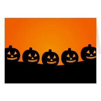 Halloween Jack O' Lanterns Greeting Card