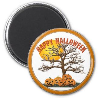 Halloween Jack o lanterns 6 Cm Round Magnet