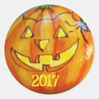 Halloween Jack O'Lantern 2017 Sticker Personalise
