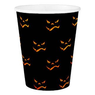 Halloween Jack O'Lantern Grimace Pattern Paper Cup