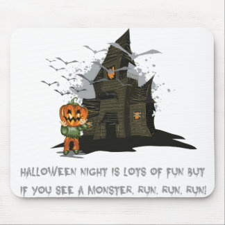 Halloween Jack, the pumpkin King haunted house Mouse Pad