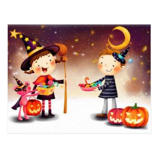 Halloween Joy Cartoon Postcard