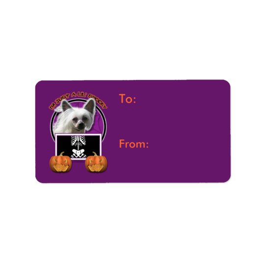 Halloween - Just a Lil Spooky - Chinese Crested Address Label