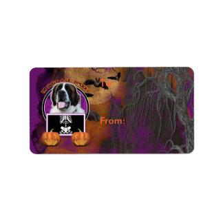 Halloween - Just a Lil Spooky - St Bernard - Mae Address Label