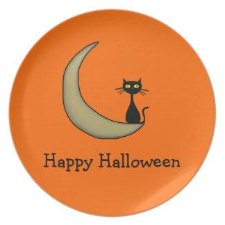 Halloween Kitty Plates