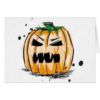 Halloween Kürbis Card