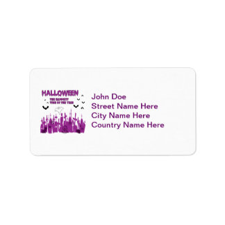 Halloween Address Label