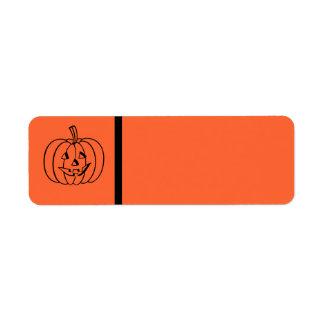 Halloween Label Return Address Label