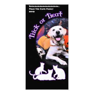 Halloween - Labrador - Macy Photo Greeting Card
