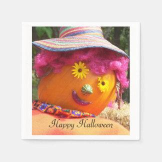Halloween Lady Scarecrow Paper Serviettes