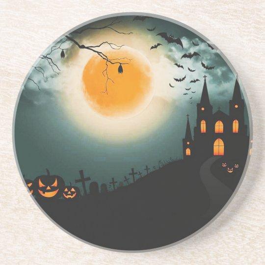 Halloween landscape coaster