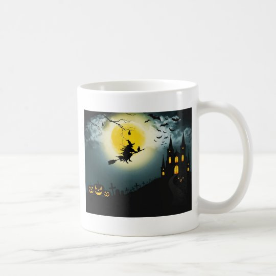 Halloween landscape coffee mug