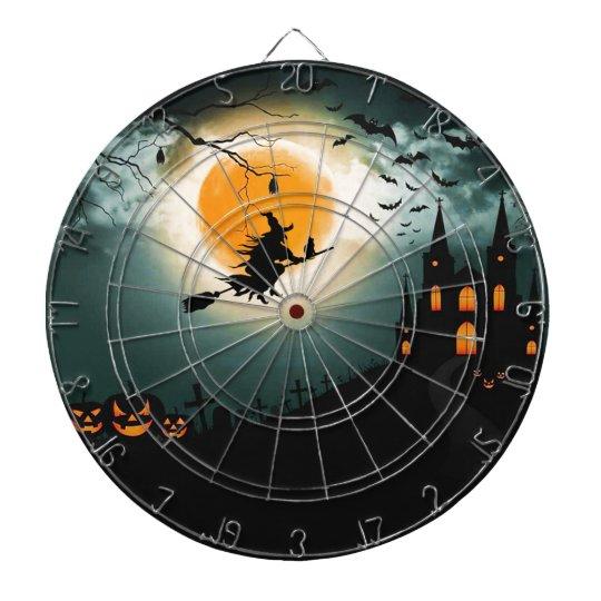 Halloween landscape dartboard
