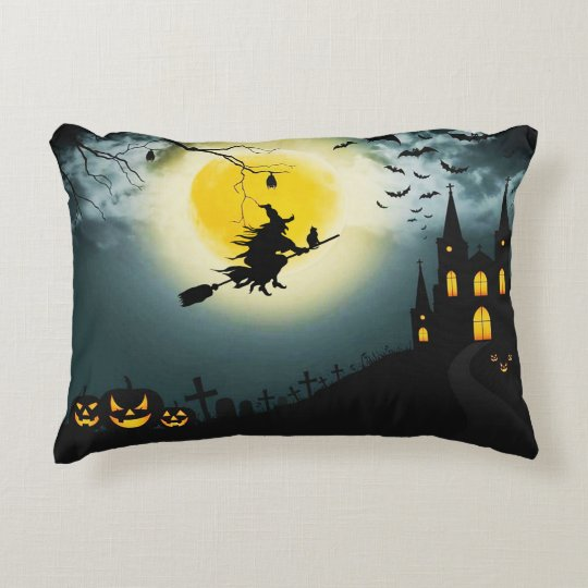 Halloween landscape decorative cushion